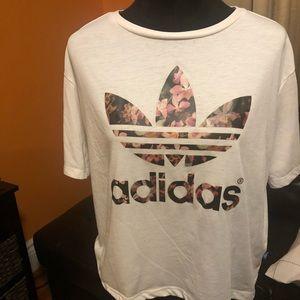 Adidas orchid logo print short sleeve shirt